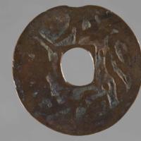 Money: copper coin, Amulet